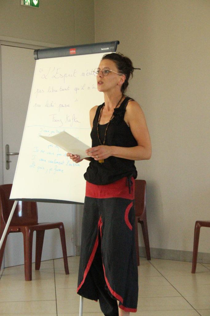 Présentation de l'atelier écriture par Audrey Debuysscher